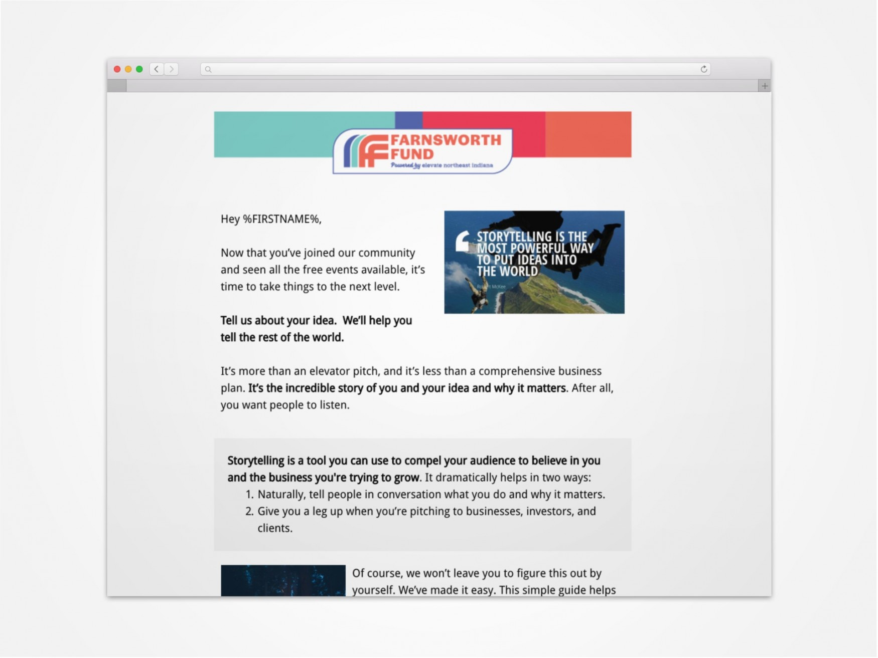 Fortitude Fund Email Campaign